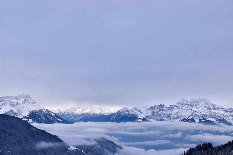 Winter landscape, Leysin / Paysage hivernal, Leysin