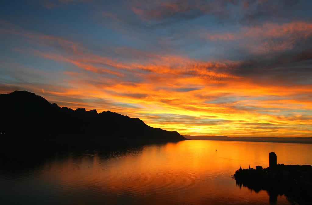 Montreux twilight / Montreux au crépuscule