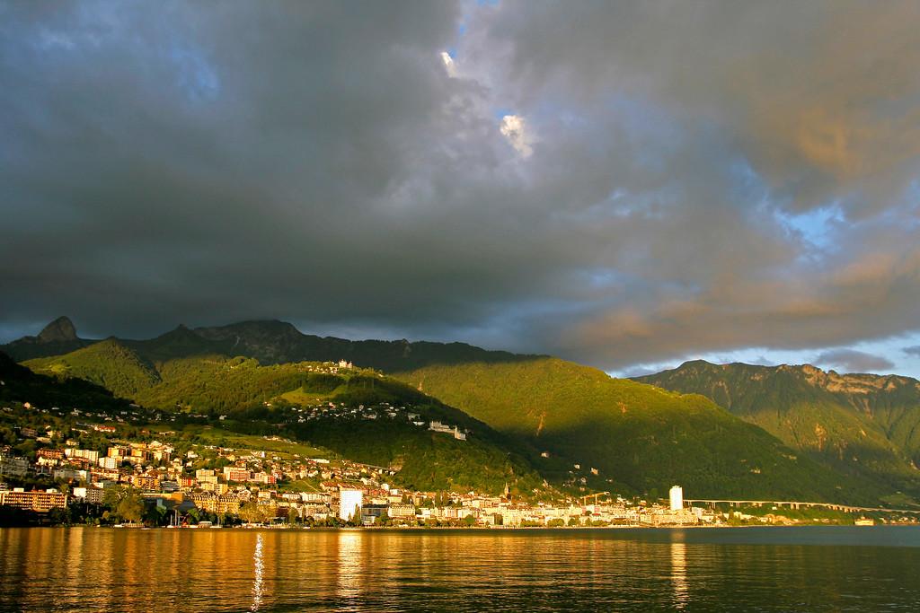 Montreux stormy evening/ Soirée orageuse à Montreux