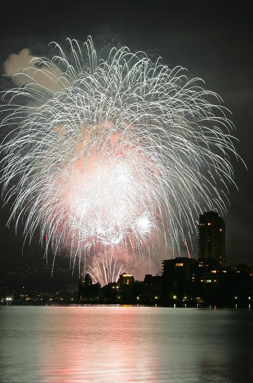 Montreux fireworks / Montreux fête nationale