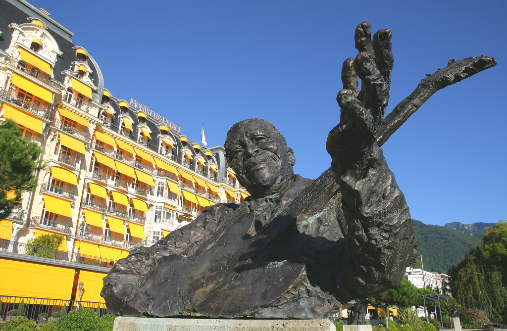 Statue of BB King, Montreux / Statue de BB King, Montreux