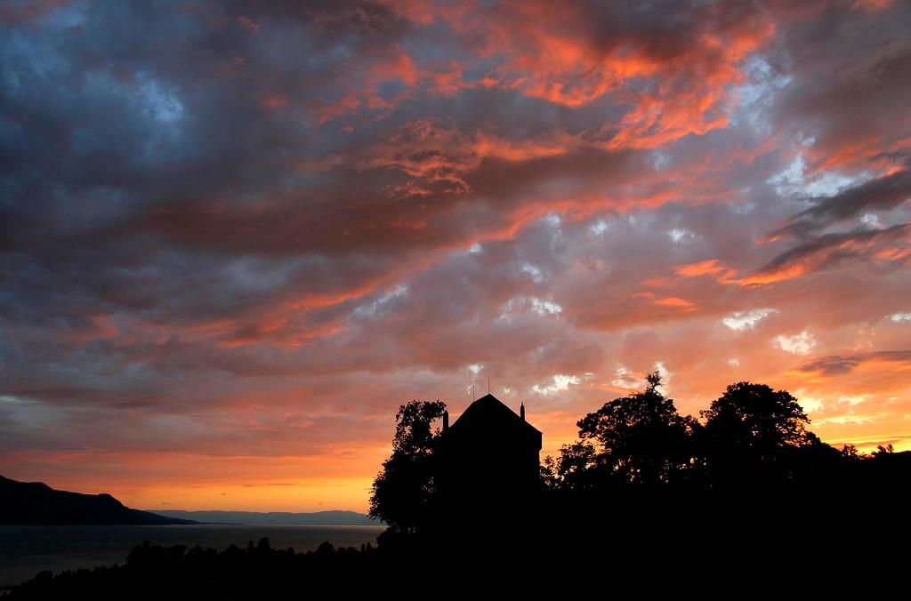 Montreux sunset / Coucher de soleil à Montreux