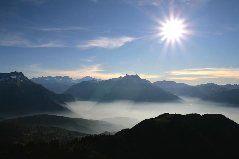 View from Grand Chamossaire, Villars / Vue du Grand Chamossaire, Villars