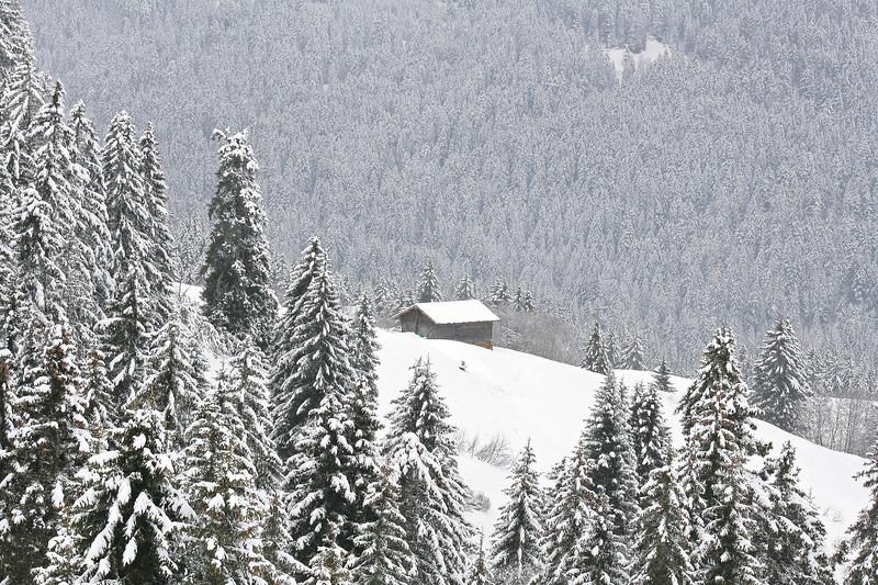 Snow scene, Villars / Paysage hivernal, Villars