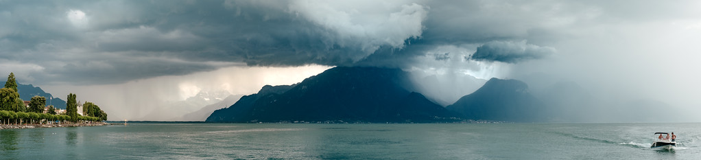 Panorama in Vevey after the storm