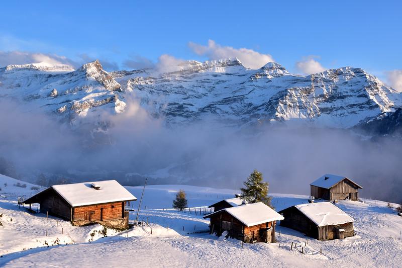 Early snow  in Les Diablerets / Première neige, Les Diablerets