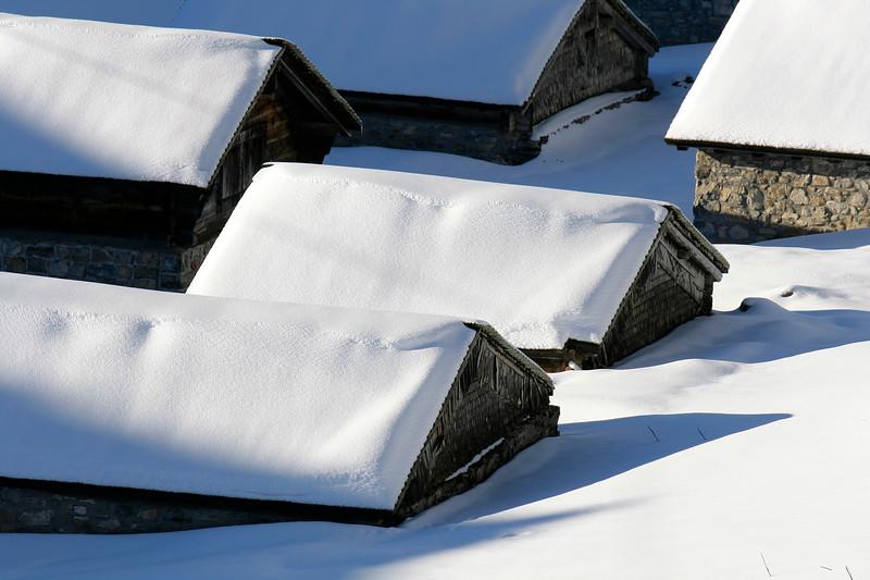 Ai in winter, Leysin/ Alpage d'Aï en hiver, Leysin