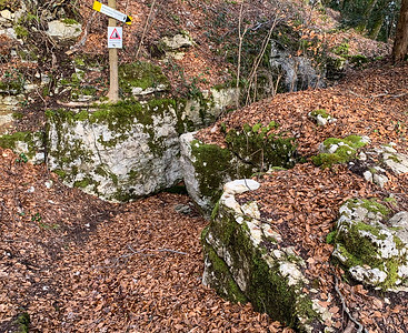 Heideloch, a nifty crevice in the rocks near the hilltop opposite Aarburg.