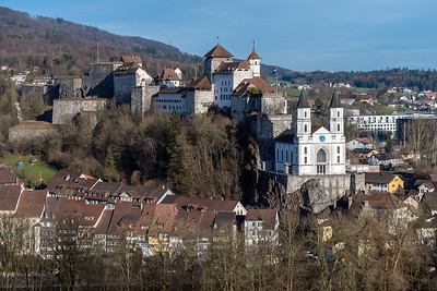 The castle (and its church) in Aarburg.