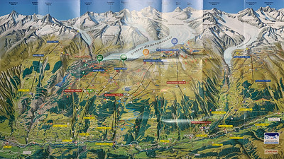 Map of the Aletsch glacier and area.