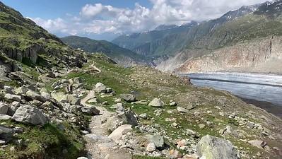 Aletsch glacier - video panorama.