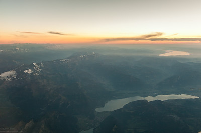 Lake Thun and the twon of Interlaken