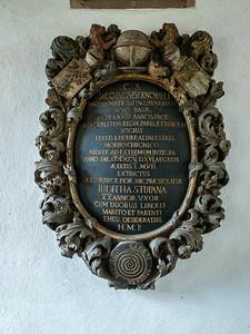 Bernoulli's grave marker, Munster cathedral, Basel.