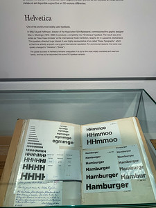 Notebook by the designer of the Helvetica font - Paper museum, Basel.