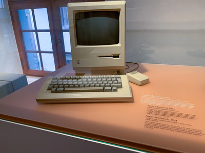 The first Mac ever used in Switzerland - Paper museum, Basel.