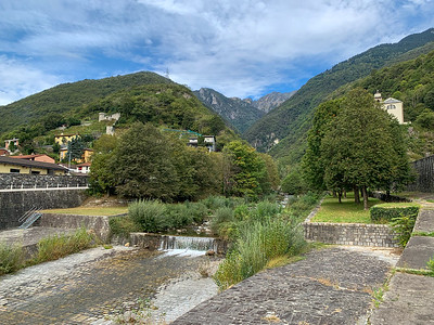 A beautiful valley we aim to climb, in Monte Carasso, near Bellinzona, Switzerland.