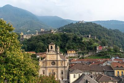 Ancient castles in Bellinzona, Switzerland.