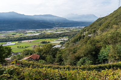 View from a trail in Monte Carasso, near Bellinzona, Switzerland.