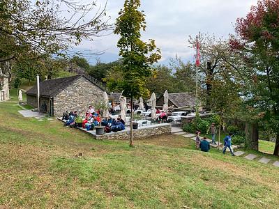 The hillside restaurant at Curzutt;  near Bellinzona, Switzerland.