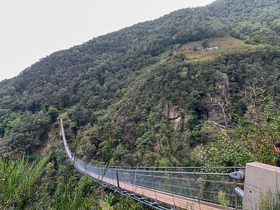 The Ponte Tibetano (Tibetan Bridge) in Monte Carasso,  near Bellinzona, Switzerland.