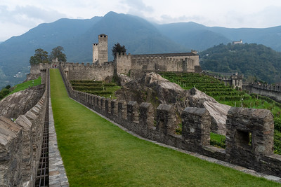 Castle Grande in Bellinzona, Switzerland.
