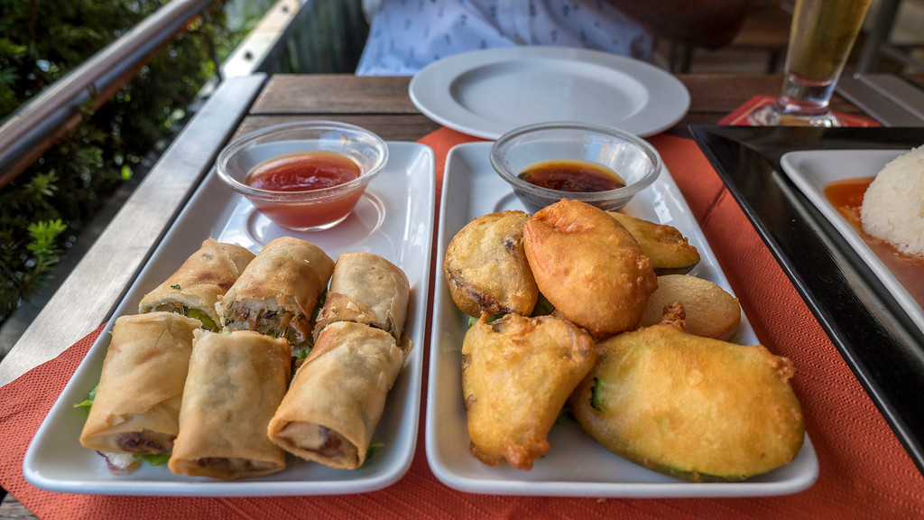 Vegan appetizers at Mishio Asian restaurant in Bern Switzerland