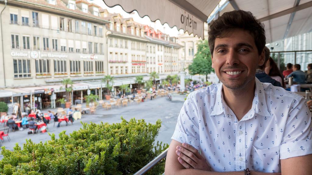 Justin dining at Mishio in Bern, Switzerland
