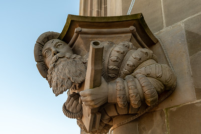 Figureheads on Berner Münster cathedral's spire.