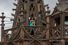 Gargoyles and stone work, Martin's Tower, Basel Munster, Old Basel, Switzerland
