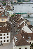 Looking from Munster Platz down Reinsprung to the Mittlere Bridge and the Danube River, Old Basel, Switzerland (best larger)