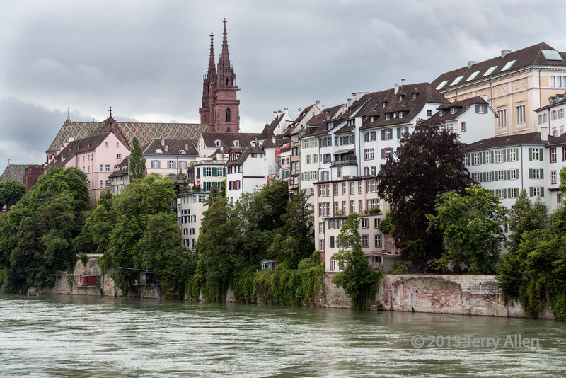 "Old Town Basel on the Rhine River<br /> <br /> Munster Cathedral (built in different stages between 1019 and 1500) and medieval houses lining the Rhine River, Basel, Switzerland<br /> <br /> Thought I'd catch up and post a few photos from my trip to Basel in June.  Basel has a wonderful Old Town (Grossbasel) with many buildings dating back to the 15th and 16th centuries.  Other photos of Old Basel can be seen here: <a href=""http://goo.gl/1ahZMw"">http://goo.gl/1ahZMw</a>"