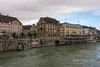 Basel Old Town with the Rhine River in spring flood, , Basel, Switzerland