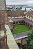 Looking down on the large cloister (Grosser Kreuzgang) of the Basel Munster in Old Basel, Switzerland.
