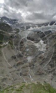 Baeregg Grindelwald Glacier Flower Snow Alps Panoramic Viepoint Town Nature Fine Arts - 021445 - 14-06-2017 - 7241x12059 Pixel