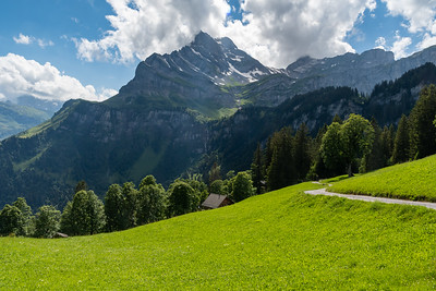 Mountain views from above Braunwald.