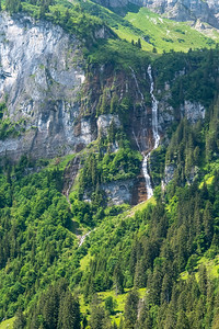 Waterfall in Braunwald.