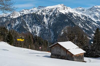 Gondola in Braunwald.