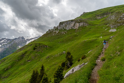 Andy leads the way as we climb to Schäfler hut.