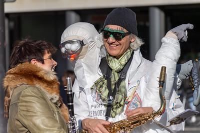 Zurich fasnacht musicians.
