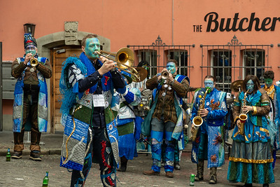 Musicians and marchers at Fasnacht Zurich.