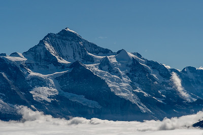 Wetterhorn(?) and glaciers above Grindelwald, seen from Winteregg near Faulhorn.