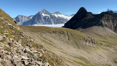 Video panorama of the view of the Berneralps from the final ascent of Faulhorn.