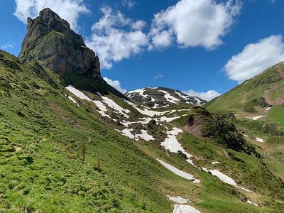 The high peaks of Flumserberg.