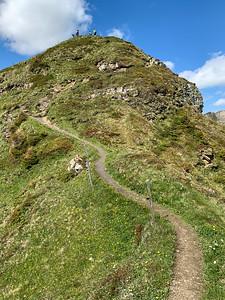 Approaching the Ziger peak, Flumserberg.