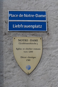 In Fribourg, street names are in both French and German.