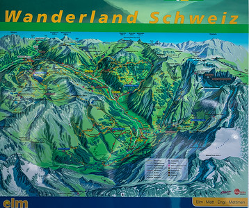 Overview map of the area.  Our hike is located near the glare spot at top left.