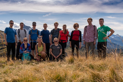 D-MTEC group on the hike to Gandstock.