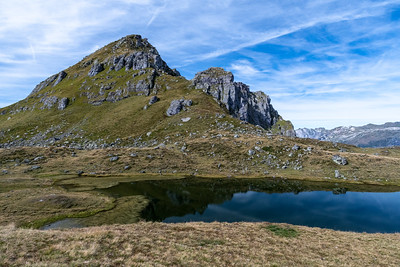Berglimatsee, a lovely small pond on the pass to the south of Gandstock peak, above.
