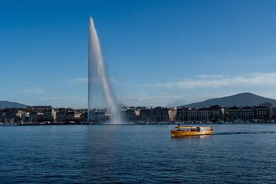 Le jet d'eau, in the lake at Geneva.