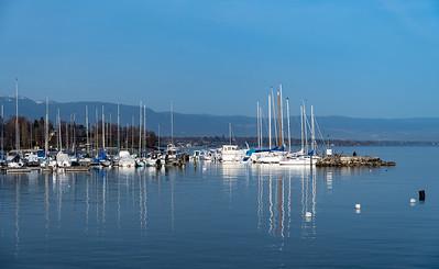 The marina in Geneva.